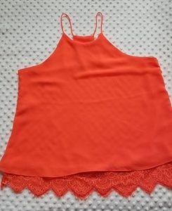 Agaci Iridescent orange top
